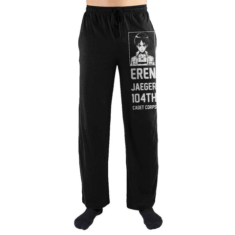 Domestic Platypus-Attack on Titan Eren Jaeger Lounge Pants, Unisex Anime Sleepwear-Lounge Pants-[meta description]