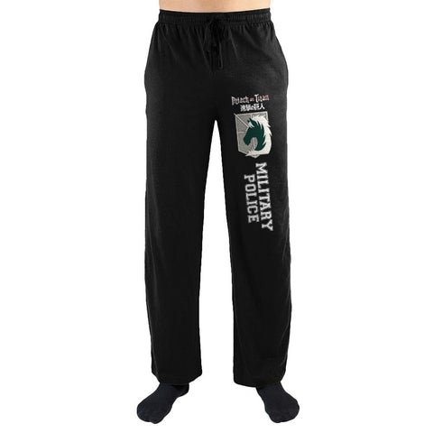 Domestic Platypus-Attack on Titan Military Police Emblem Lounge Pants, Unisex Loungewear-Lounge Pants-[meta description]