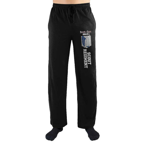 Domestic Platypus-Attack on Titan Scout Regiment Emblem Anime Lounge Pants, Loungwear-Lounge Pants-[meta description]