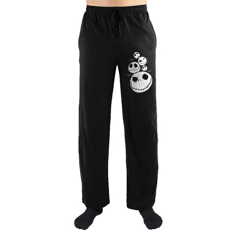 Domestic Platypus-Nightmare Before Christmas Many Faces of Jack Skelington Lounge Pants-Lounge Pants-[meta description]