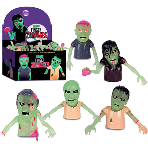 Glow-in-the-Dark ZOMBIE Finger Puppets/Cake Toppers