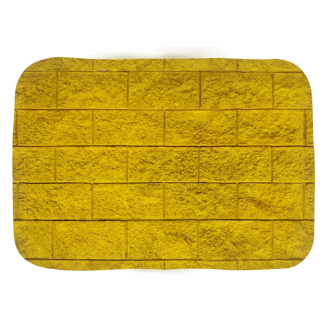 Domestic Platypus-Wizard of Oz inspired Yellow Brick Road Bath Mats, 24x17in or 34x21in-Bath Mat-[meta description]
