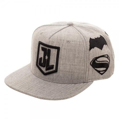 Justice League Embroidered Logos Wool Snapback Cap