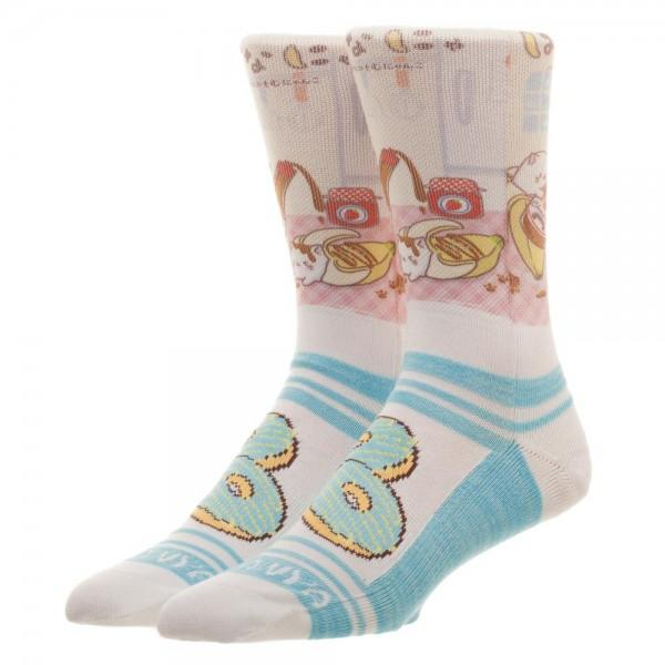 Bananya Sublimated Crew Socks