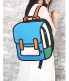 Comic Style 2D-in-3D Backpack