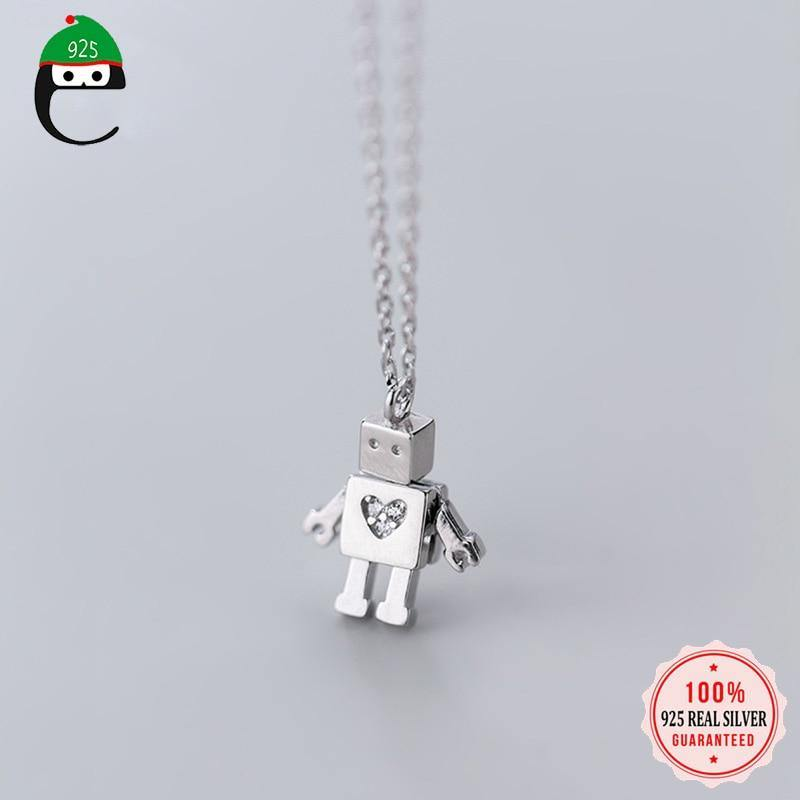 Robot Love Necklace - Sterling Silver, Eifo