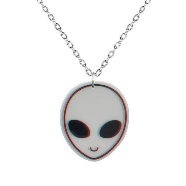 Domestic Platypus-Friendly Grey Acrylic Necklace, Innergalactic - Roswell Retro Rave 3D-necklace-[meta description]
