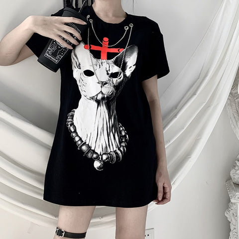 Underlord Oversized Print Graphic Tee