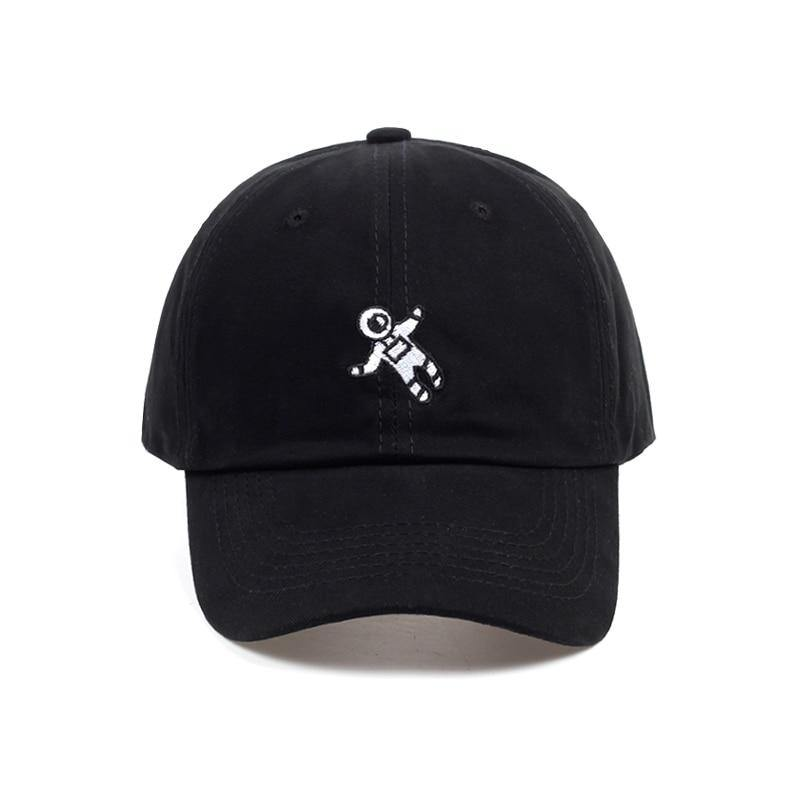 Drifting Astronaut Embroidered Cap