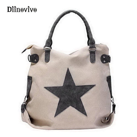 Big Star Vintage Style Canvas Carryall Bag