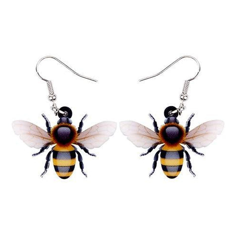 Honey Bee Acrylic Earrings