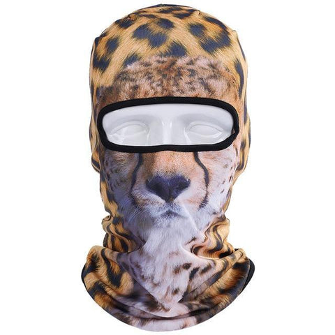 Domestic Platypus-Cheetah 3D Print Balaclava, Funny Weird AOP Protective Cat Face Mask-Balaclava-[meta description]
