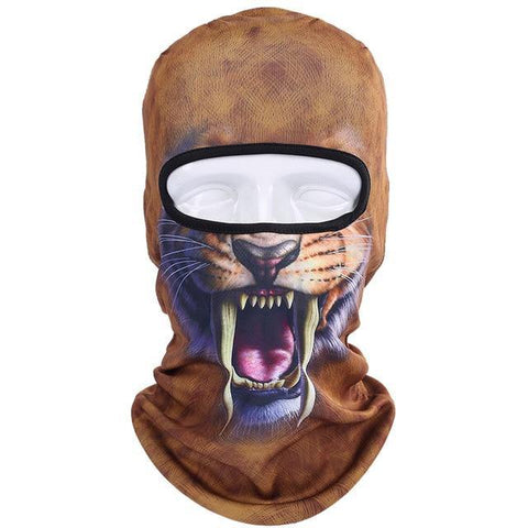 Domestic Platypus-Sabretooth Tiger 3D Print Balaclava, Funny Weird Protective Face Mask-Balaclava-[meta description]