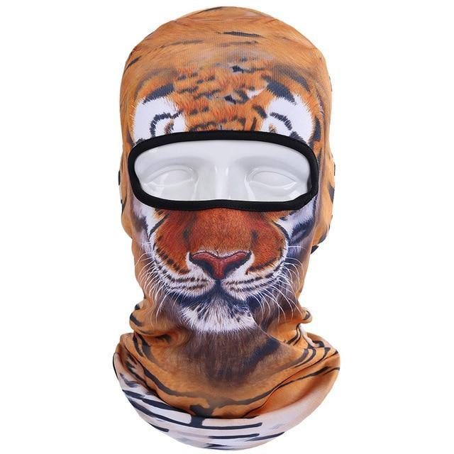 Domestic Platypus-Tiger Jungle Cat 3D Balaclava, Funny Weird AOP Protective Face Mask-Balaclava-[meta description]
