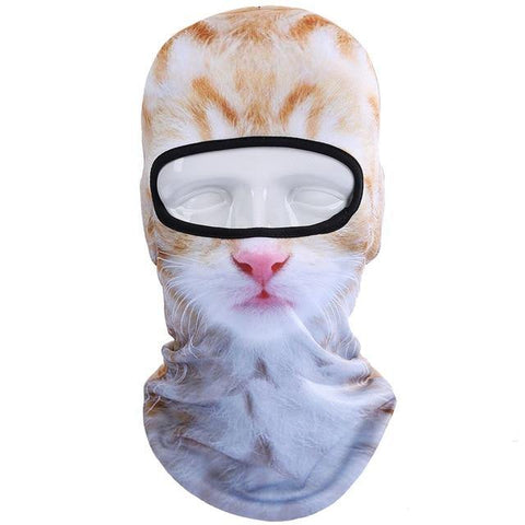 Orange Kitten 3D Print Balaclava