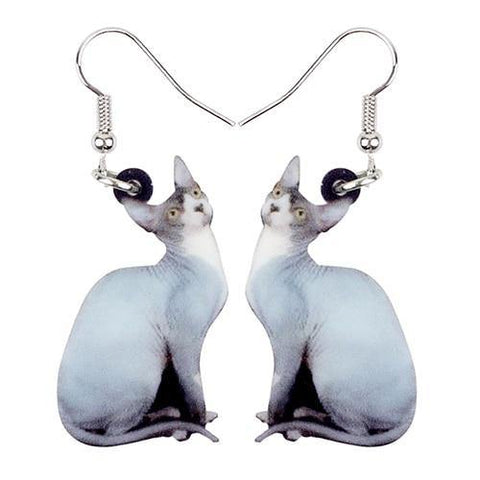 Sphynx Cat Acrylic Earrings