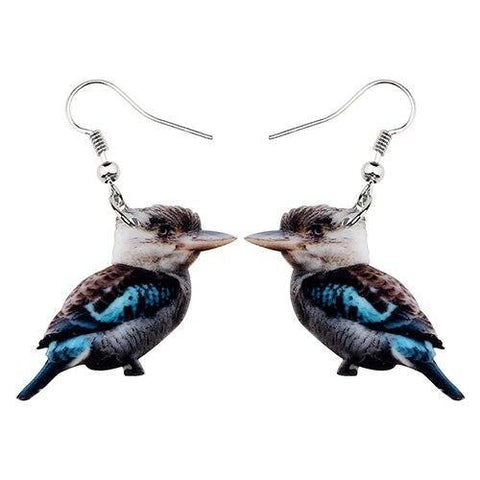 Laughing Kookaburra Acrylic Australian Bird Earrings