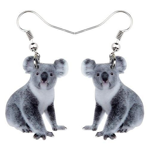 Koala Acrylic Statement Earrings