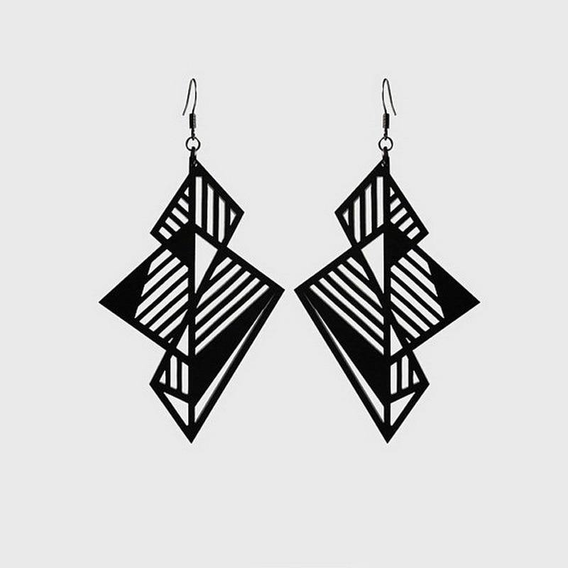 Stereoscopic Geometry Oversized Acrylic Earrings