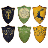Game of Thrones House Crest Pillow Set #2: Greyjoy, Baratheon & Tyrell