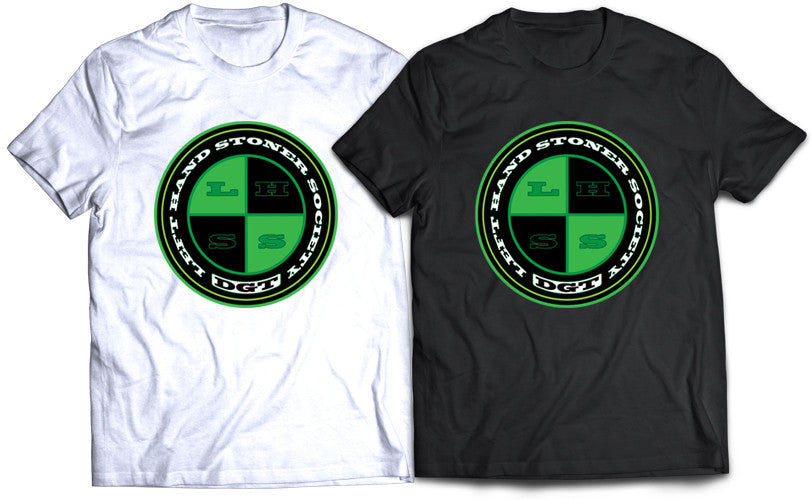 "DR. GREENTHUMB ""LEFT HANDED STONER SOCIETY"" POLO EMBLEM TEE"