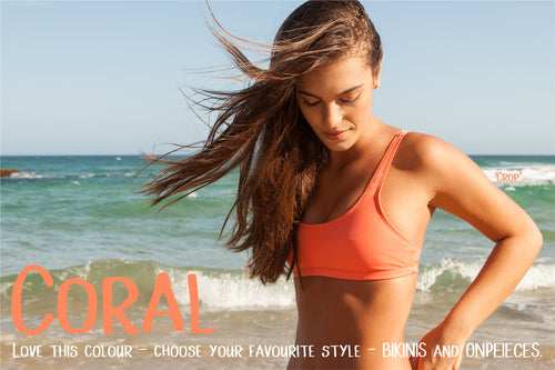 NEW! - Coral - all styles in BIKINIS and ONEPIECES