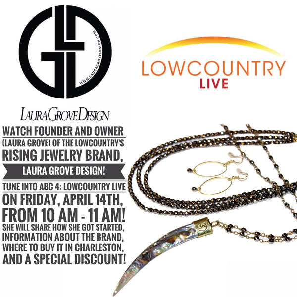 Watch Us On Lowcountry Live on Friday, April 14th in Charleston!