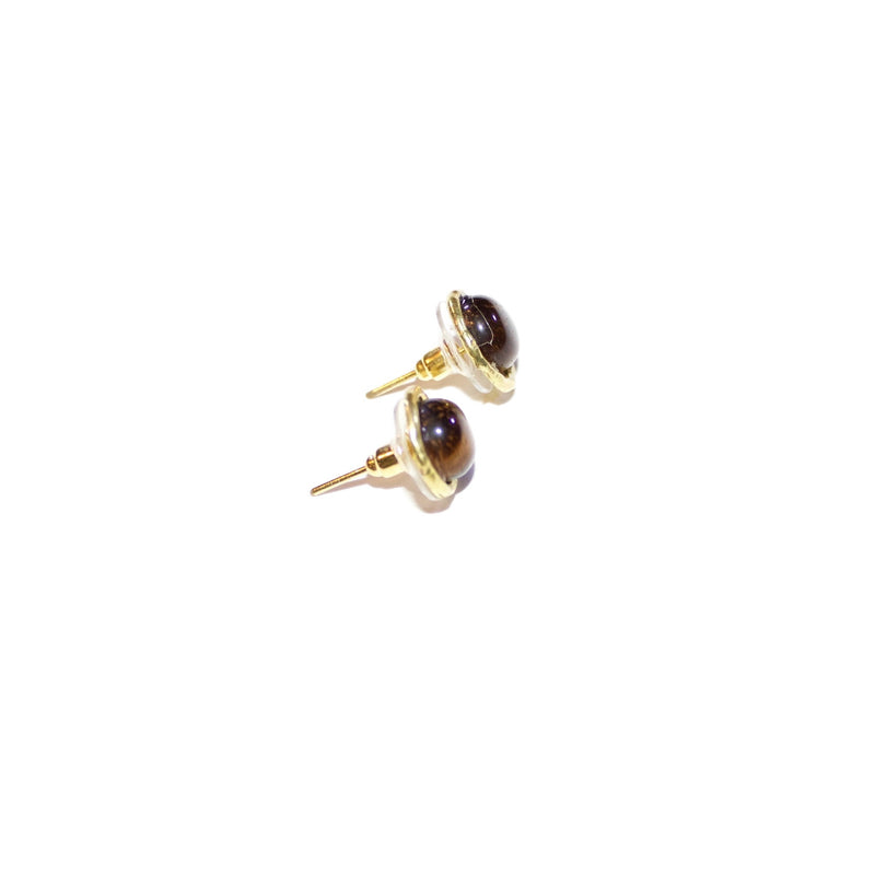 'Karen' (Tiger Eye) Earrings