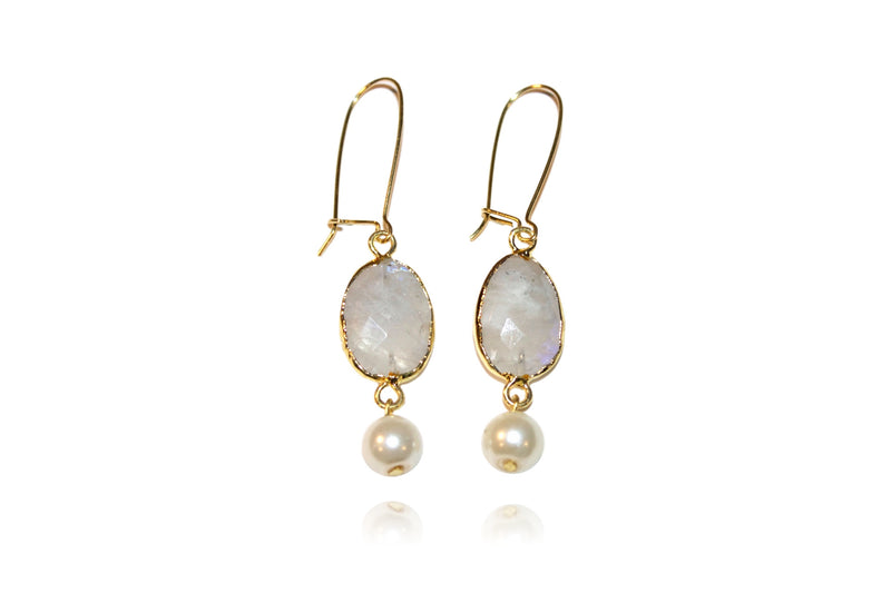 'Tina' (Moonstone) Earrings