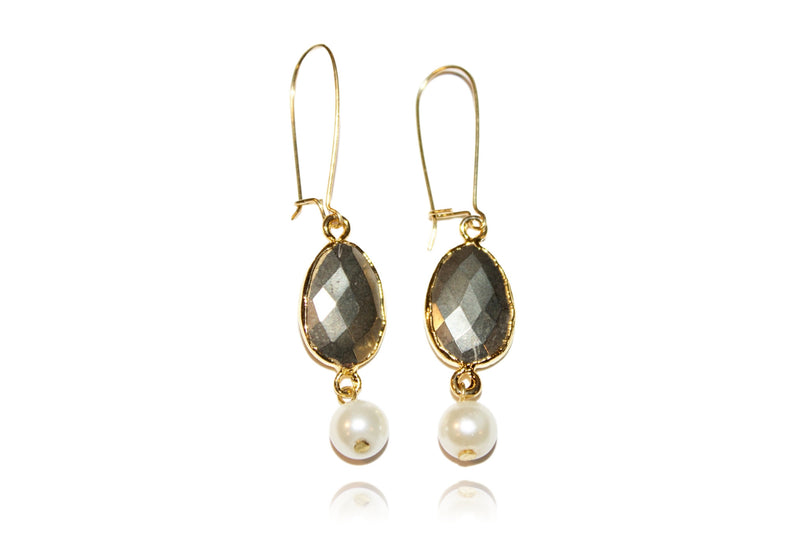 'Tina' (Pyrite) Earrings