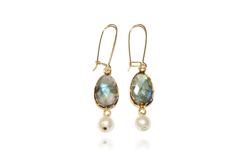 'Tina' (Labradorite) Earrings
