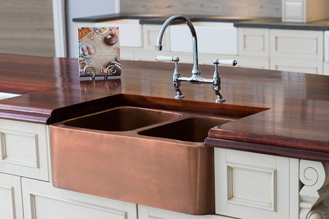 Copper Double Butler Sink - Live Event !