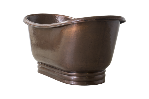 Hammered Freestanding Copper Bath