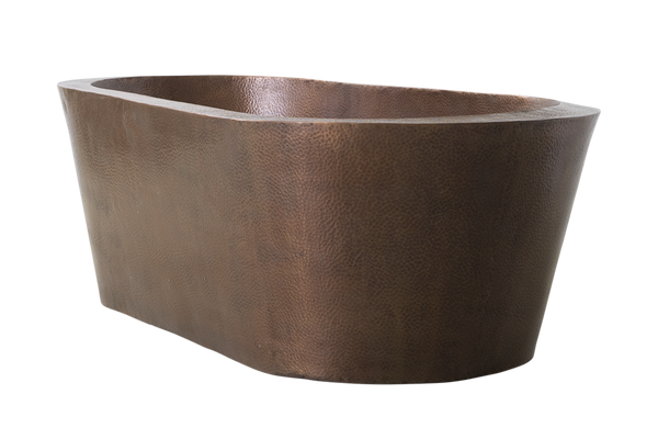 Copper Freestanding Oval Bath