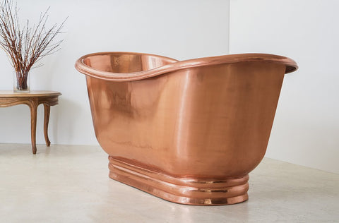 Shiney Copper Apron Bath
