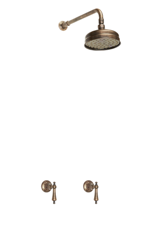 Wall Taps Shower Arm & Rose - Metal Lever