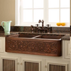 Double Copper Country Butler Sink