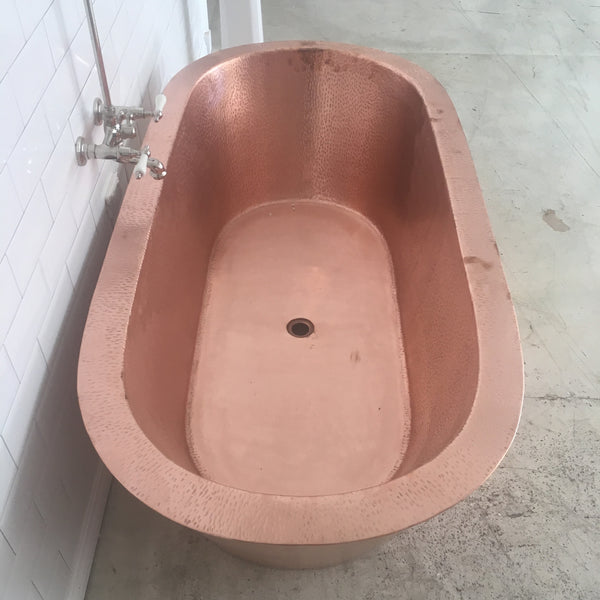 Custom Copper Oval Bath