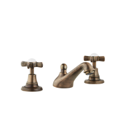 Three Hole Lever Taps -  Low Level Spout - Metal Lever
