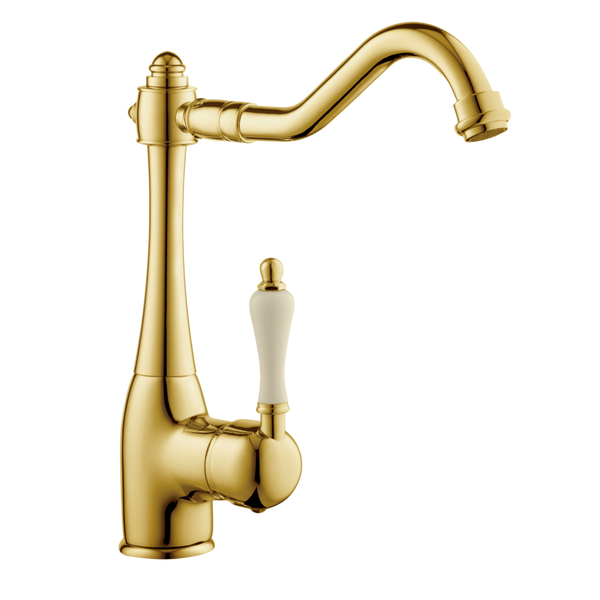 Traditional Kitchen Tap - Porcelain Lever