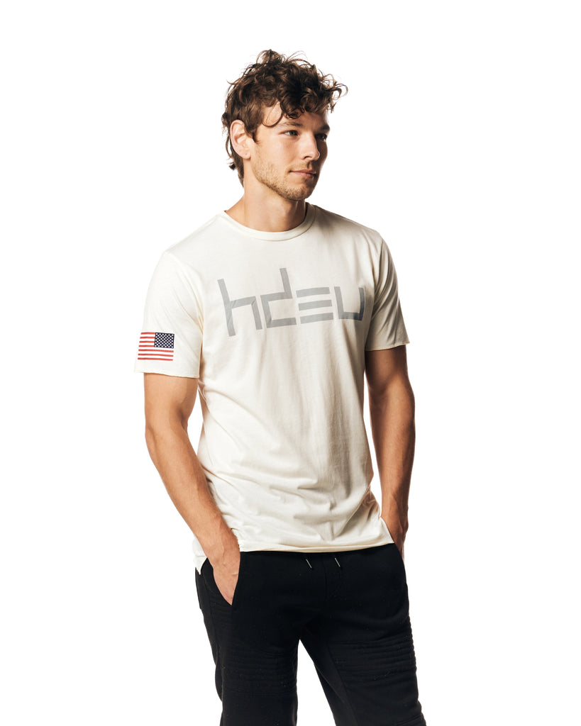 Cream Flag Sleeve T-Shirt