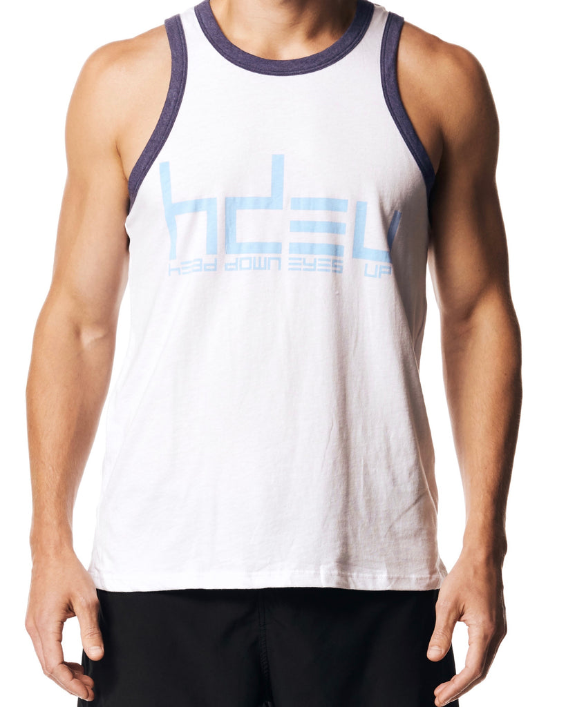 CR-CLASSIC - White/Blue Tank Top