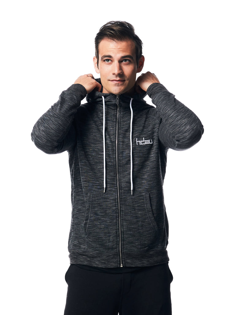 QUICK - Heather Gray Zip Hoodie