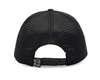 Black Circle Patch Curved Bill Hat