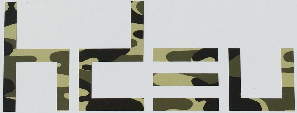 Camo Vinyl Window Decal