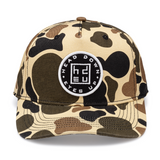 Duck Camo Circle Patch Curved Bill Hat