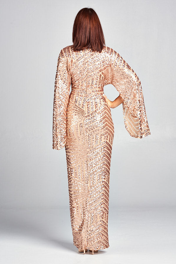 Lauren Sequin Maxi dress