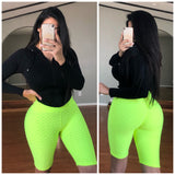 BECKY Biker Shorts - Neon Yellow