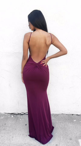 Alexandra Maxi dress - Burgundy