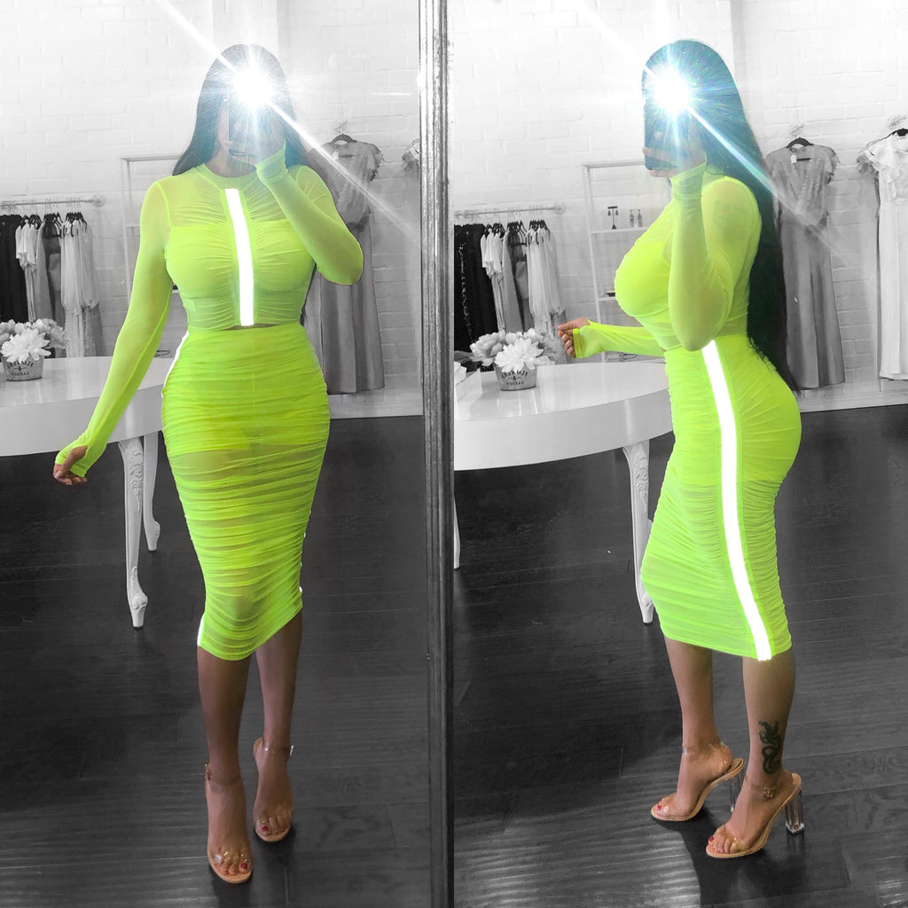 KARMEN set - Neon yellow